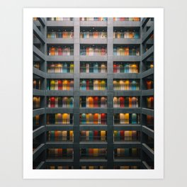 Rainbow Building Art Print