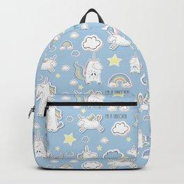 I'm a Unicorn - blue Backpack