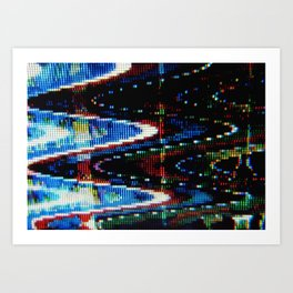 VHS-STYLE DISTORTION Art Print