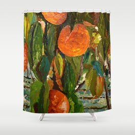 Jimmy and the Giant Peach Tree Shower Curtain