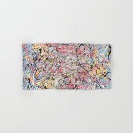 Crescendo - Jackson Pollock style abstract drip canvas art by Rasko Hand & Bath Towel