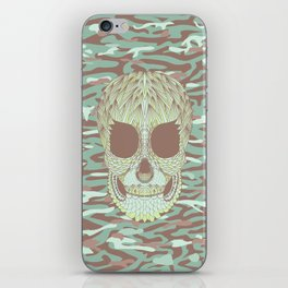 camouflage skull iPhone Skin
