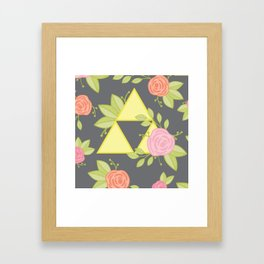 Garden of Power, Wisdom, and Courage Pattern in Grey Framed Art Print