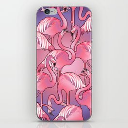 Cute graphic flamingos iPhone Skin