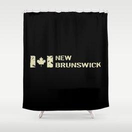 Canadian Flag: New Brunswick Shower Curtain