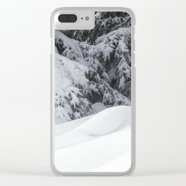 Snowdrifts and Spruce Branches After the Blizzard Clear iPhone Case