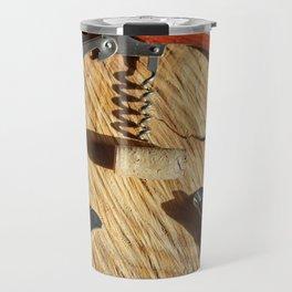 corkscrew with wine corks Travel Mug