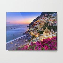 Positano Amalfi Coast Metal Print