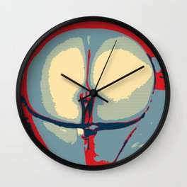 NSFW Sexy Booty - in Obama poster style Wall Clock