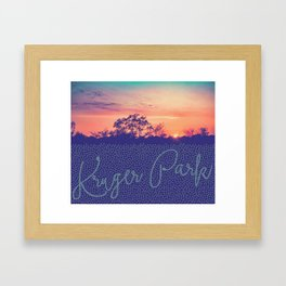 Sunrise in Kruger Park Framed Art Print