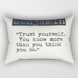 Benjamin Spock quote Rectangular Pillow