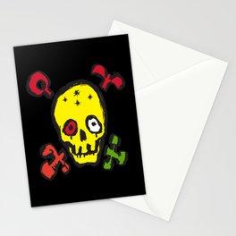 Skull Bones Biker Cool Pirate Stationery Cards