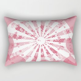 Pop art pink illustration on the background of hearts Rectangular Pillow