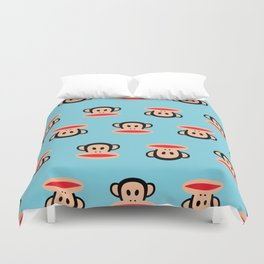 Julius Monkey Pattern by Paul Frank - Blue Duvet Cover