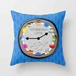 Colorful Cathrineholm Enamelware Kitchen Pottery // Lotus Leaf Motif Throw Pillow