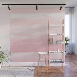 Blush Watercolor Abstract Minimalism #1 #minimal #painting #decor #art #society6 Wall Mural