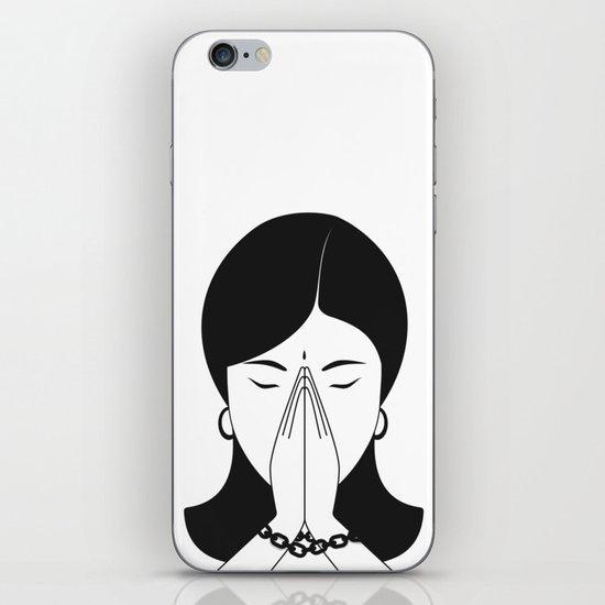 Modern woman iPhone Skin