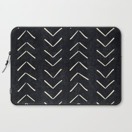 Mudcloth Big Arrows in Black and White Laptop Sleeve