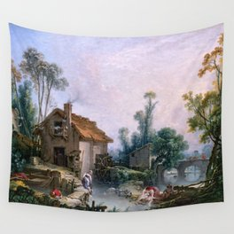 Landscape with a Watermill - Francois Boucher (1703-1770) Wall Tapestry
