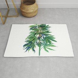 Cannabis Scientific Illustration Rug