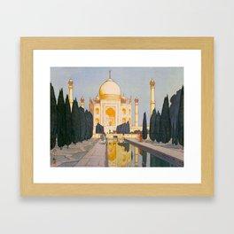 The Taj Mahal Gardens Hiroshi Yoshida Japanese Woodblock Prints Framed Art Print