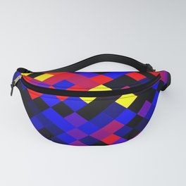 Polyamory Pride Pixelated Angled Squares Fanny Pack