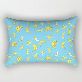 Bananarama in Blue Rectangular Pillow
