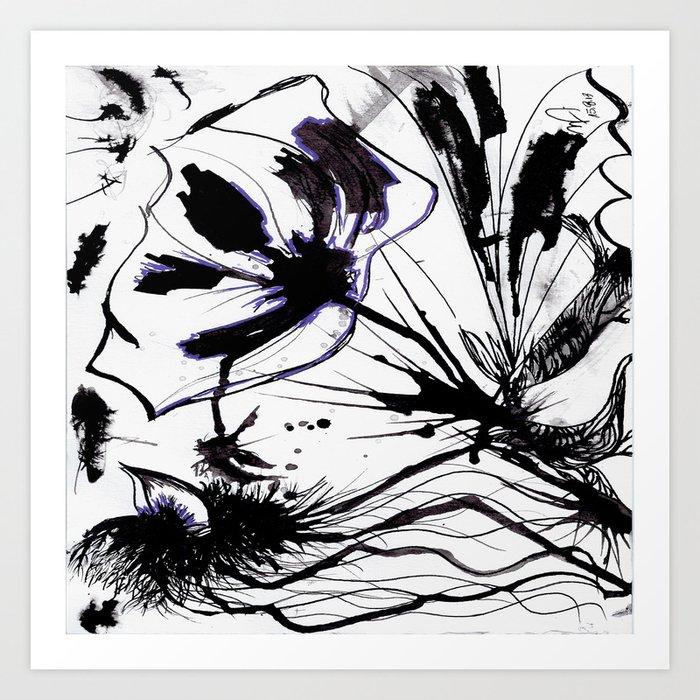 Nanquim Posca Purple Art Print