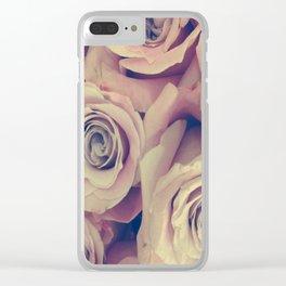 Retro Roses Clear iPhone Case