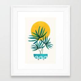 Little Palm + Sunshine Framed Art Print