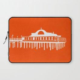 Seaside Pier in Orange Laptop Sleeve