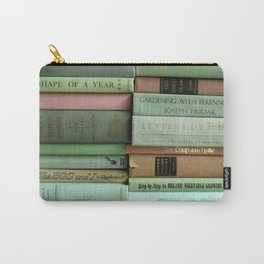 pastel book stacks Carry-All Pouch