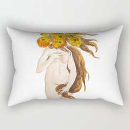birth of Venus and sunflower Rectangular Pillow