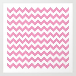 Light Pink Chevron Pattern Art Print