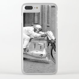 Motorcycle Racer Clear iPhone Case