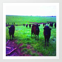 cows Art Prints featuring Cows by 13th Moon Social Club