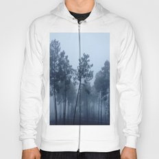 Fog and Forest II-wood,mist,romantic, greenery,sunset,dawn,Landes forest,fantasy Hoody