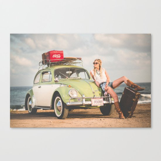 Broadway Car Canvas Print