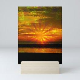 Sunset at the Lake Mini Art Print