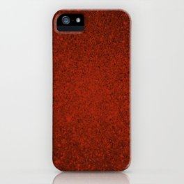 Agate Red Sparkling Jewels Pattern iPhone Case