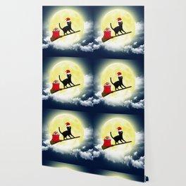 Santa Cat Wallpaper