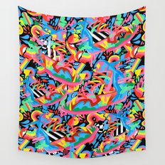 Colorful Sneaker Pattern Wall Tapestry