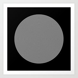Hypnotic Circles optical illusion Art Print