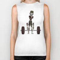 crossfit Biker Tanks featuring Crossfit Zombie by RonkyTonk doing Deadlift by RonkyTonk