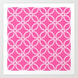 Trellis Pink Art Print