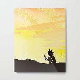 Rick morty galaxy sunset Metal Print