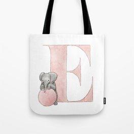 Aplhabet E Tote Bag