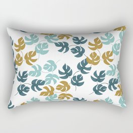 Tropical Monstera /Tetrasperma Leaf Pattern Rectangular Pillow