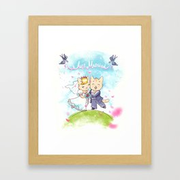 Just Married Cats Framed Art Print