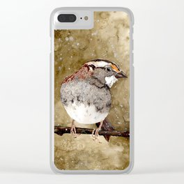 White-throated Sparrows Clear iPhone Case